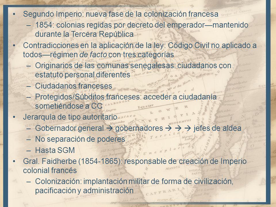 Segundo Imperio: nueva fase de la colonización francesa