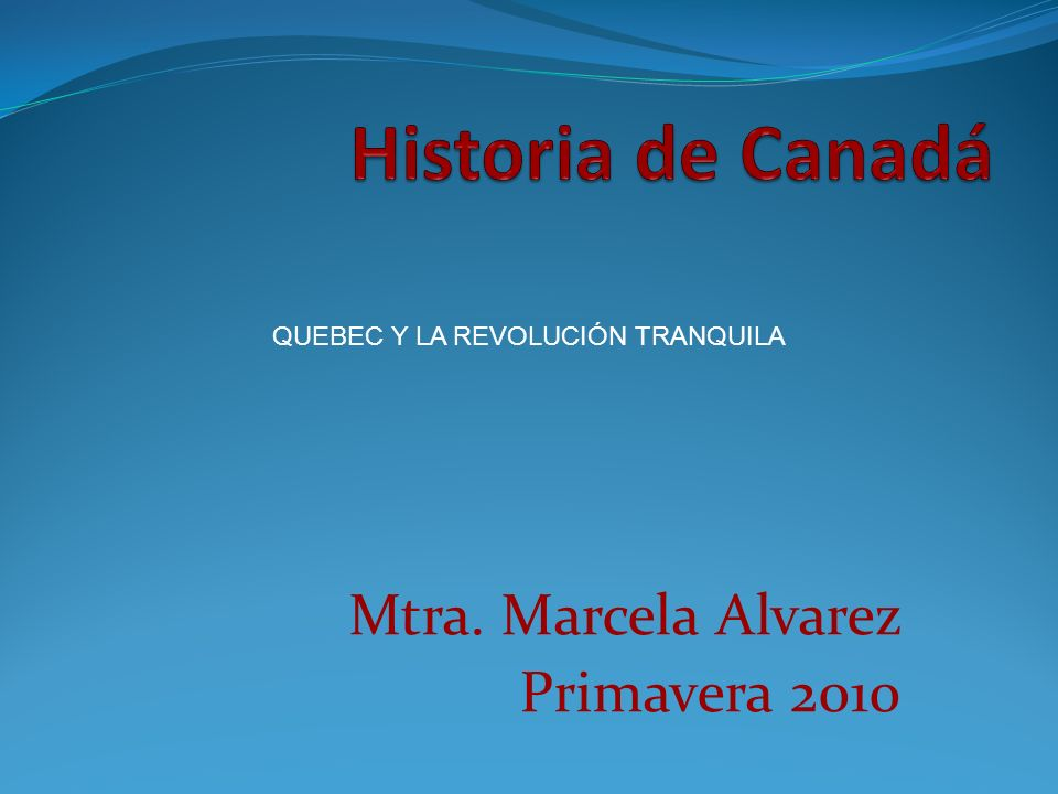 Mtra. Marcela Alvarez Primavera 2010