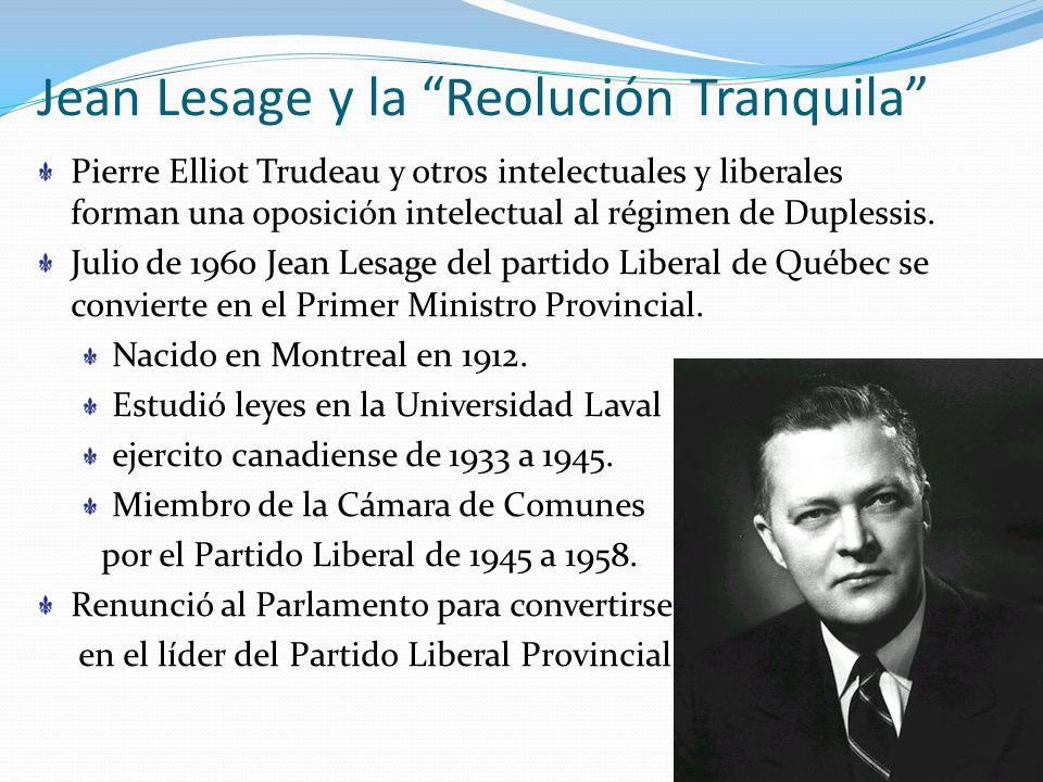Jean Lesage y la Reolución Tranquila