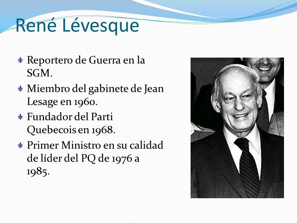 René Lévesque Reportero de Guerra en la SGM.