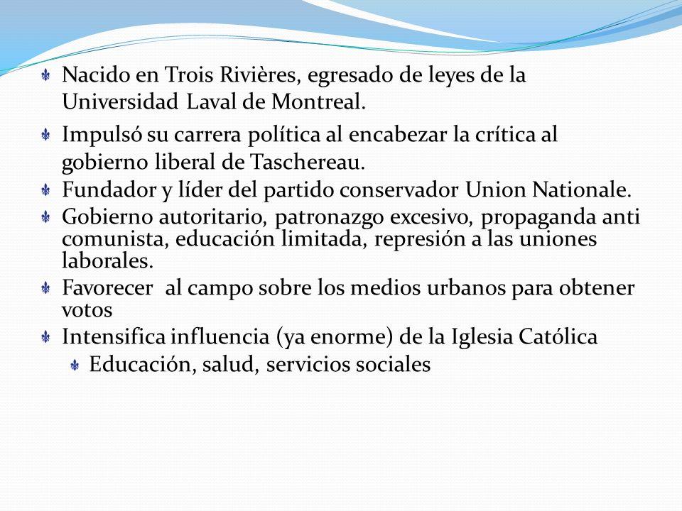 Nacido en Trois Rivières, egresado de leyes de la Universidad Laval de Montreal.
