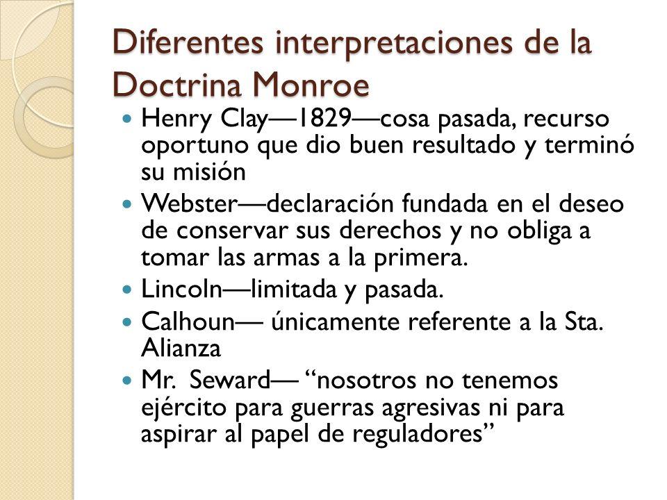 Diferentes interpretaciones de la Doctrina Monroe