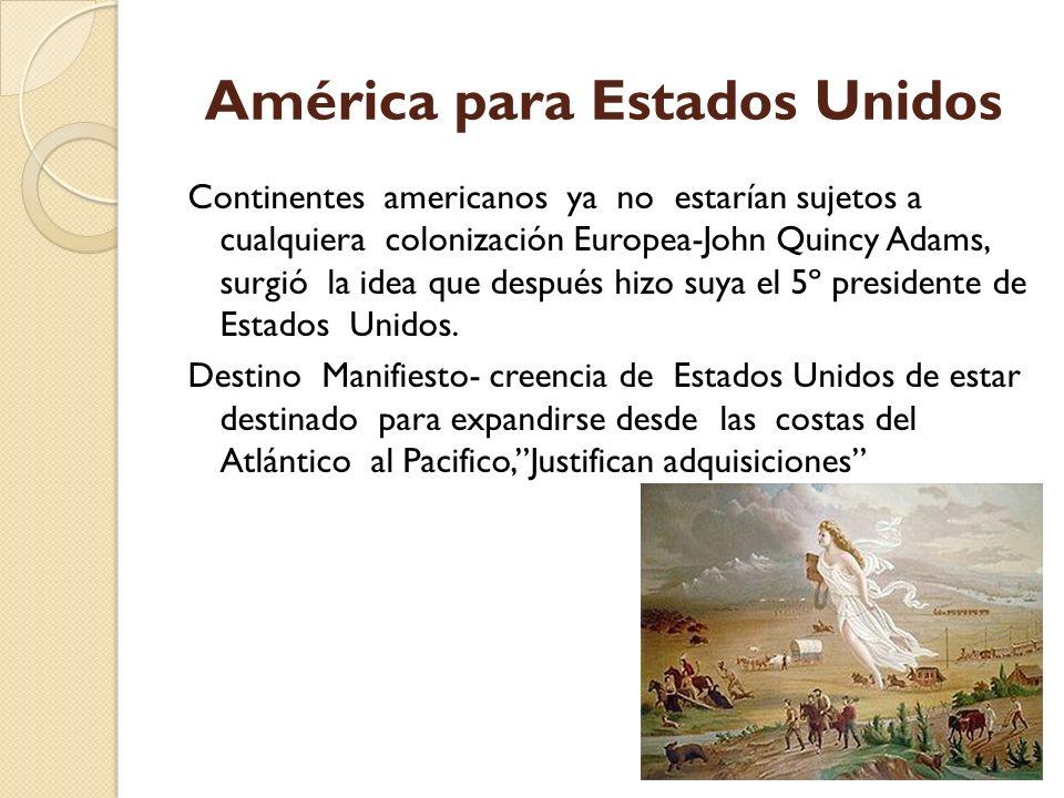 América para Estados Unidos