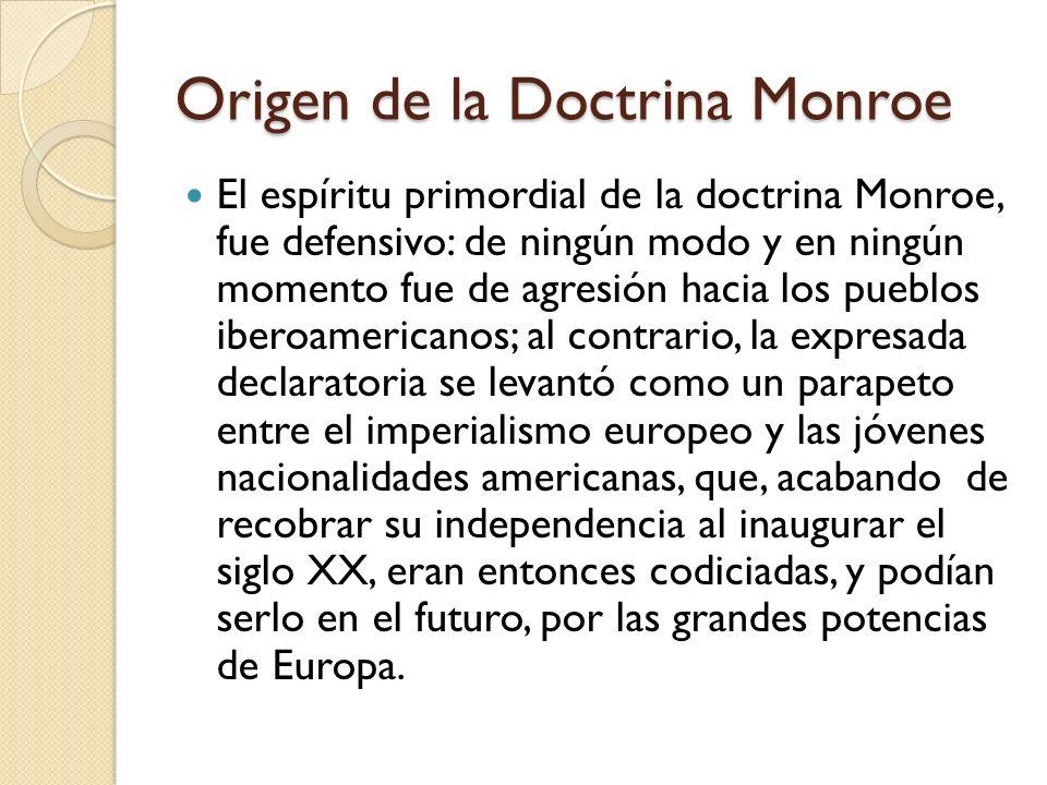 Origen de la Doctrina Monroe