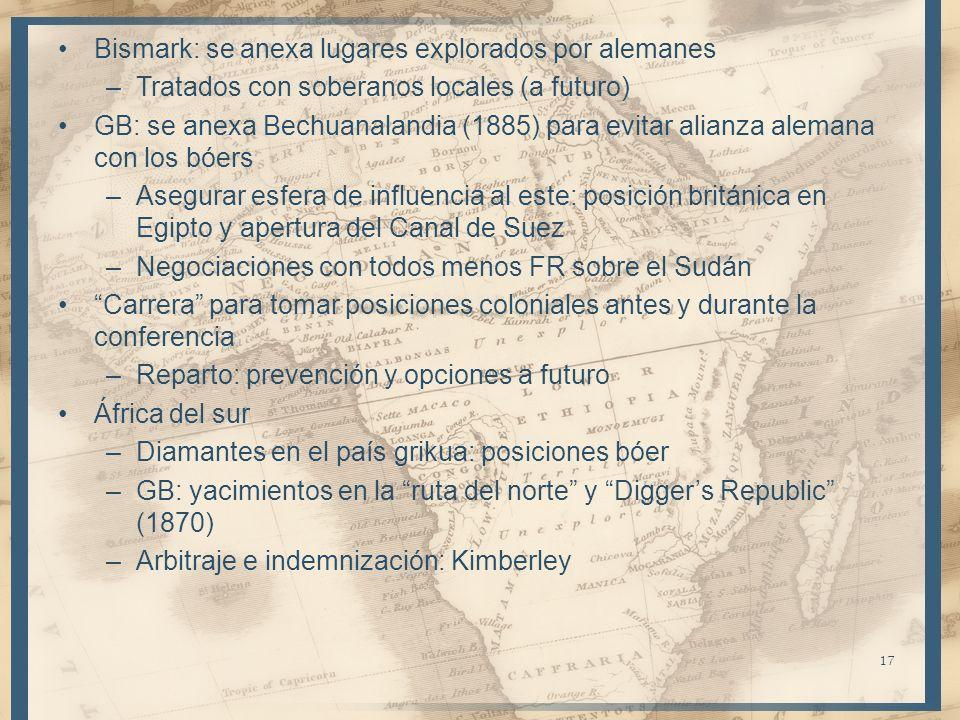 Bismark: se anexa lugares explorados por alemanes