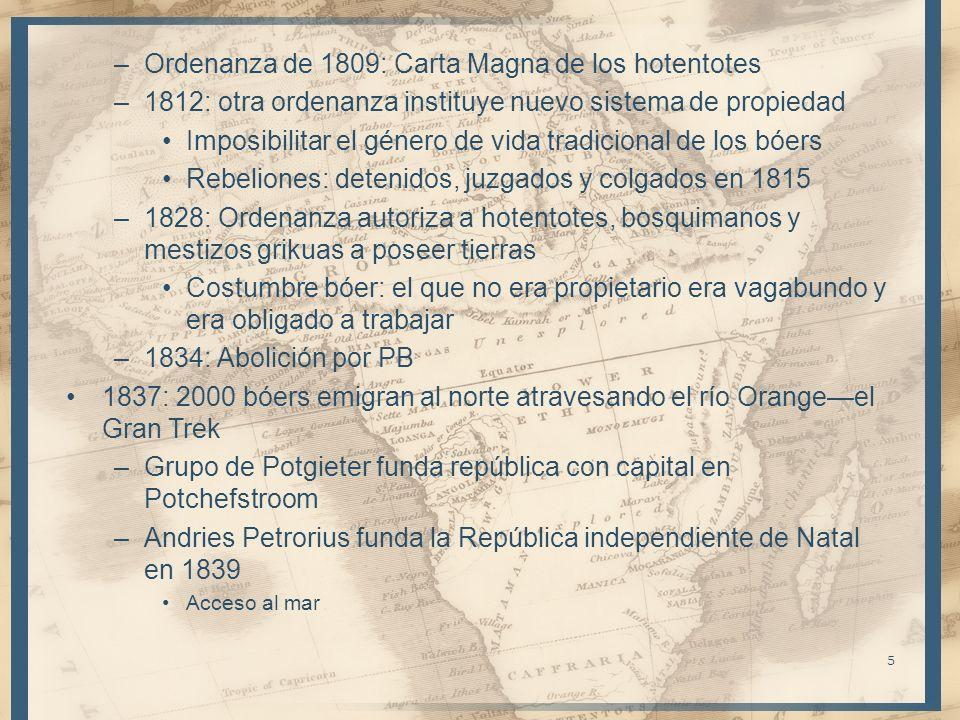 Ordenanza de 1809: Carta Magna de los hotentotes