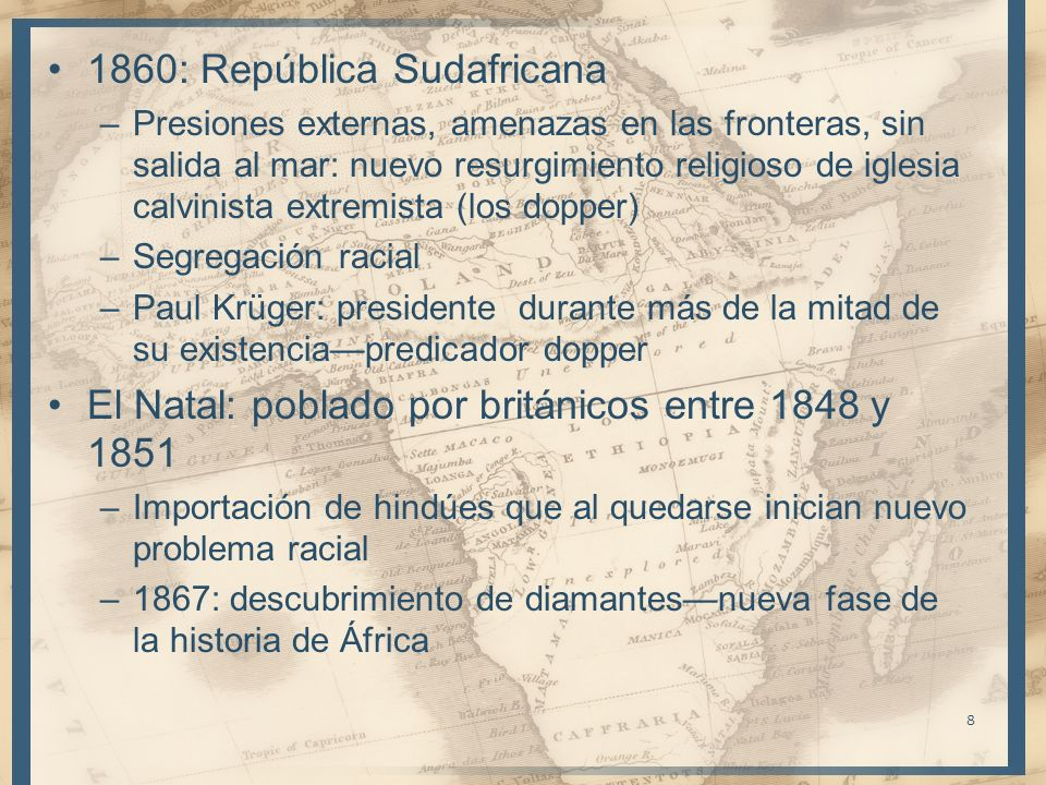 1860: República Sudafricana