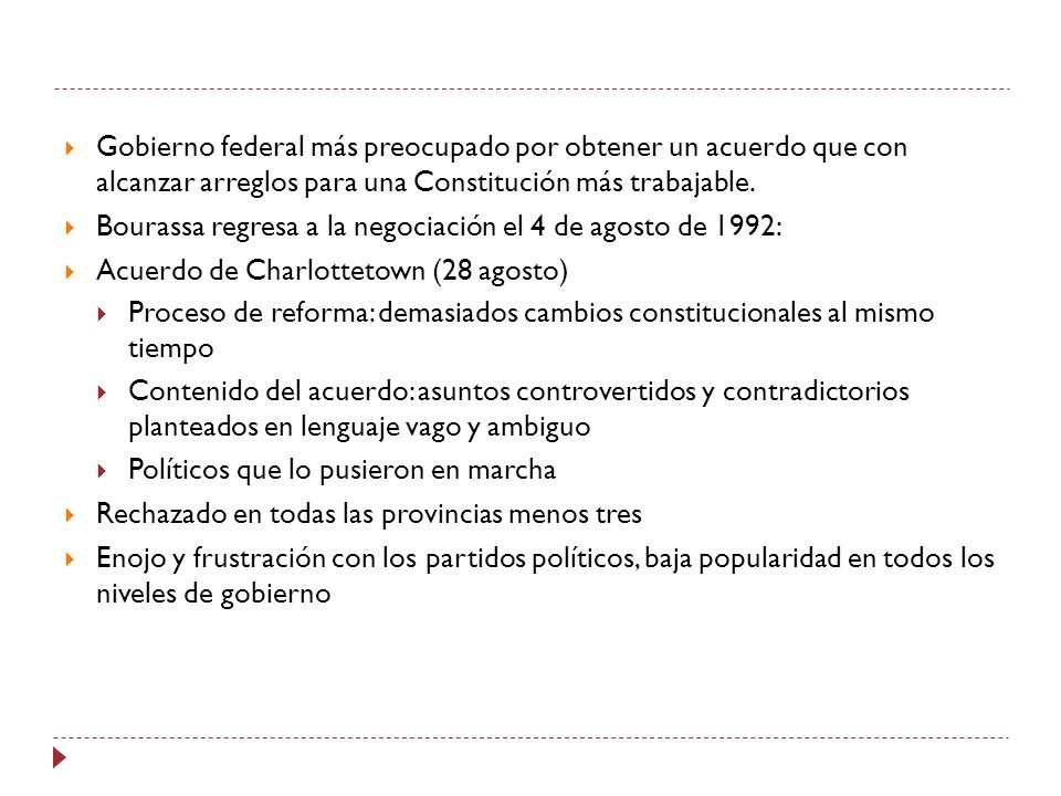 Gobierno federal más preocupado por obtener un acuerdo que con alcanzar arreglos para una Constitución más trabajable.
