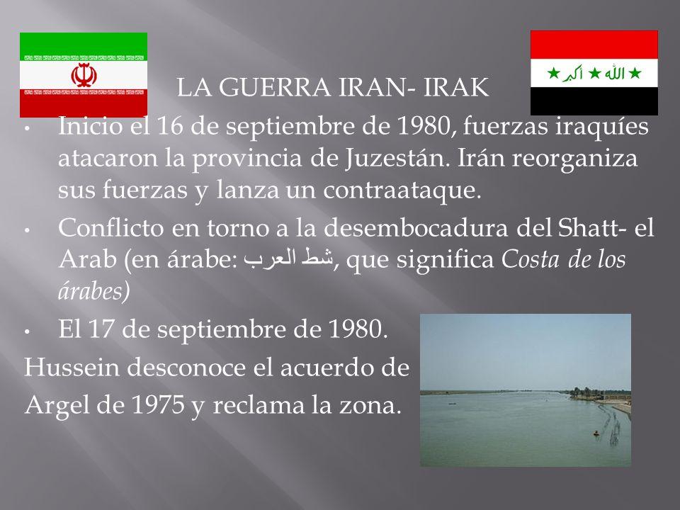 LA GUERRA IRAN- IRAK