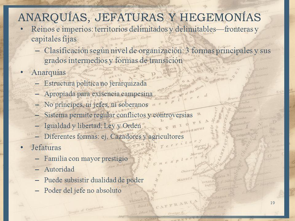 ANARQUÍAS, JEFATURAS Y HEGEMONÍAS