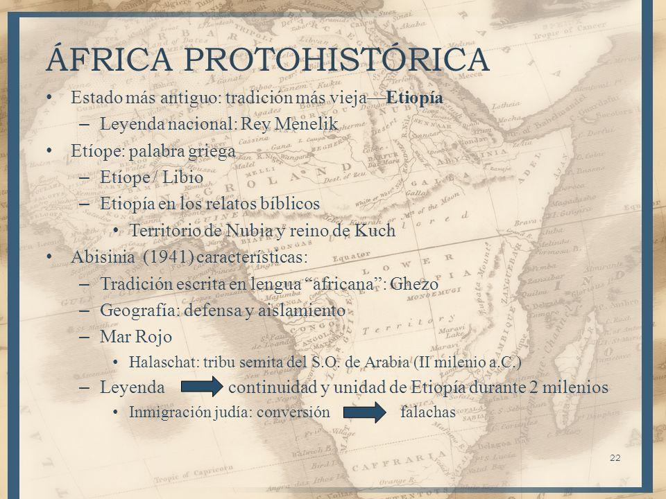 ÁFRICA PROTOHISTÓRICA