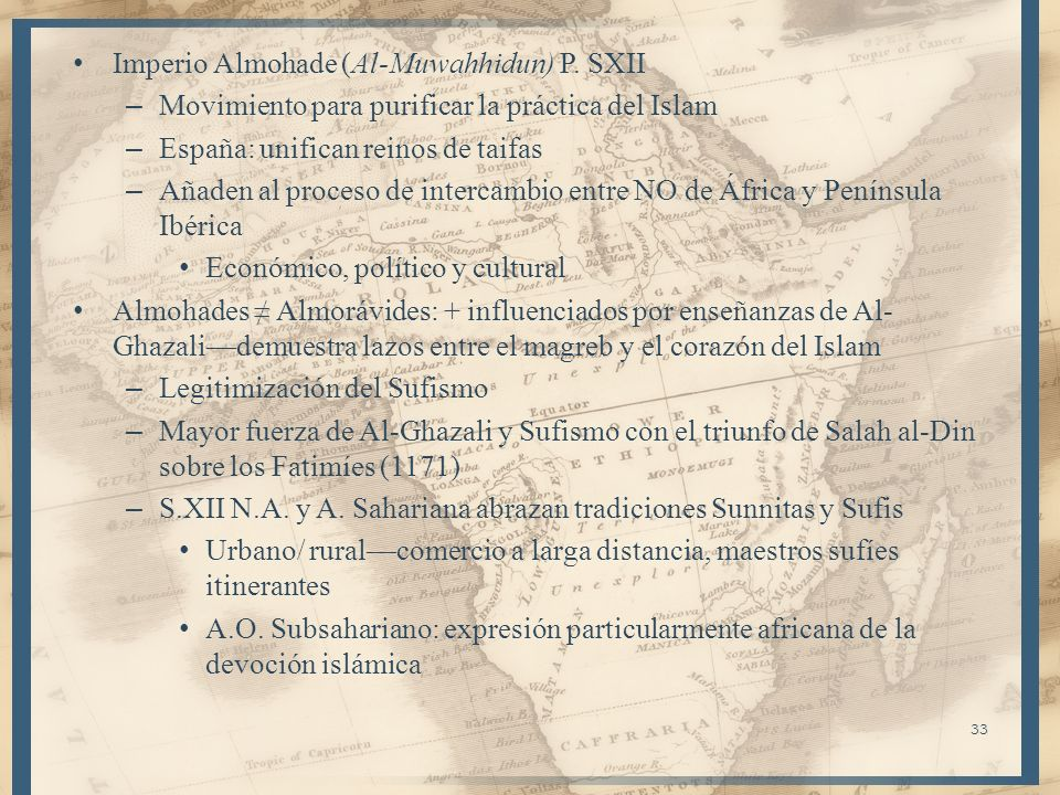 Imperio Almohade (Al-Muwahhidun) P. SXII