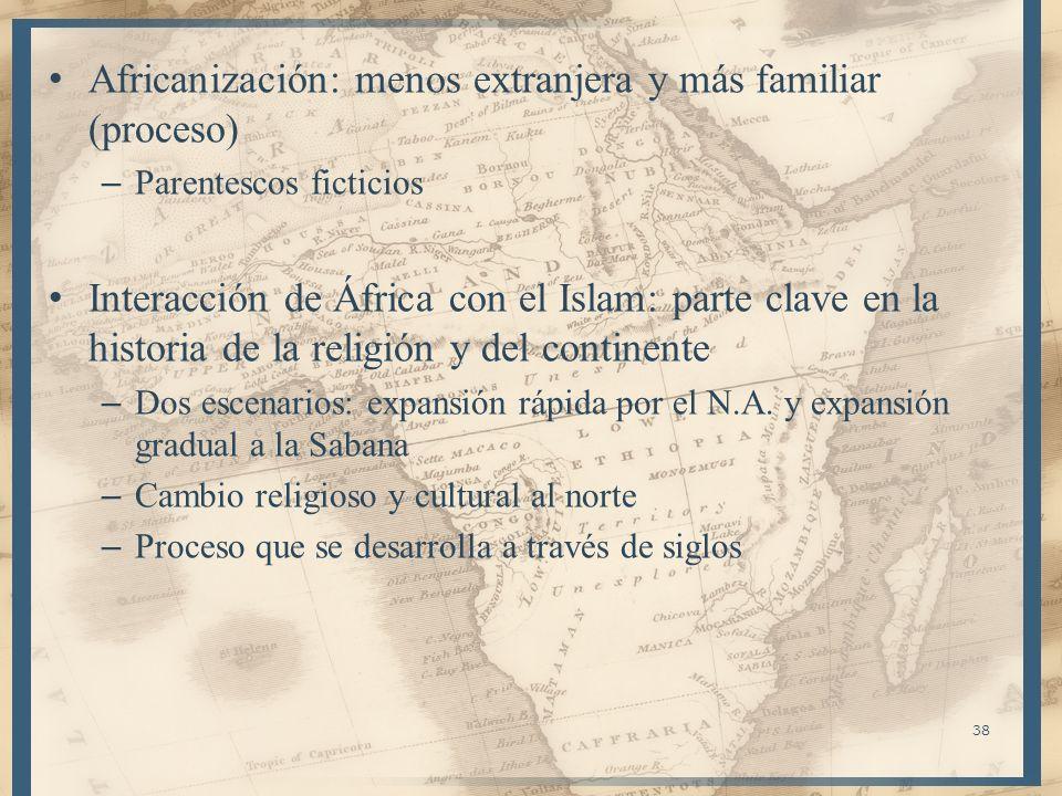 Africanización: menos extranjera y más familiar (proceso)