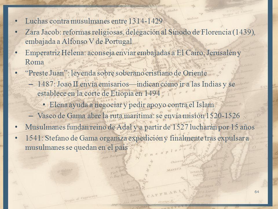 Luchas contra musulmanes entre 1314-1429