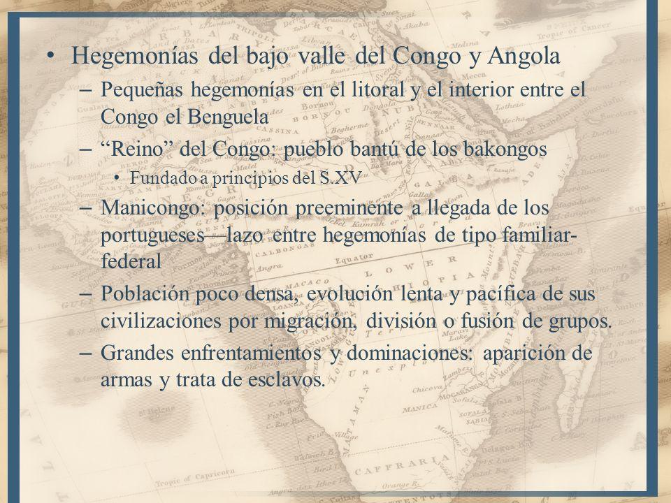 Hegemonías del bajo valle del Congo y Angola