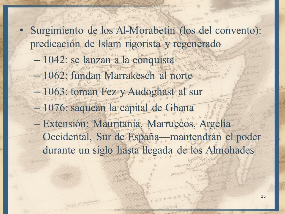 Surgimiento de los Al-Morabetin (los del convento): predicación de Islam rigorista y regenerado