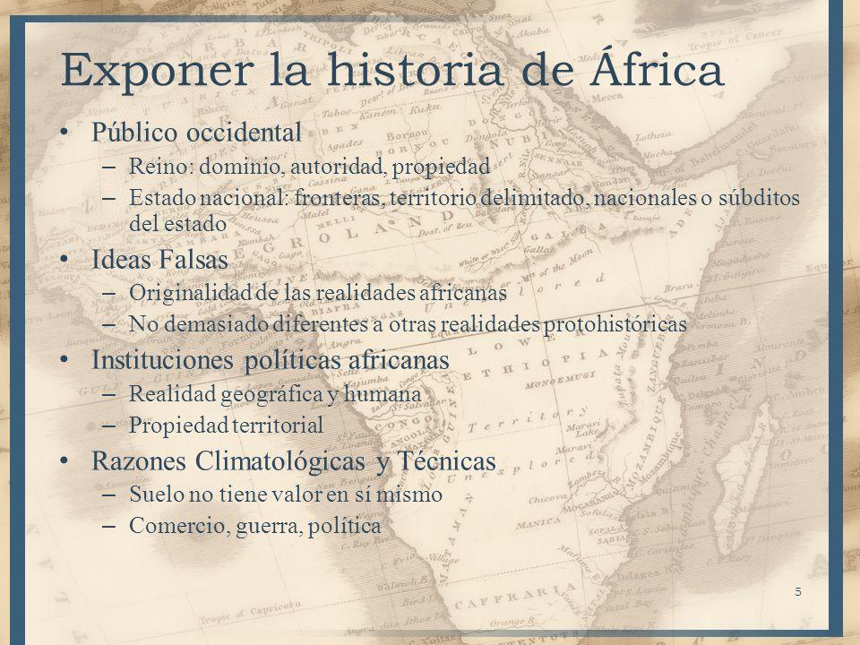 Exponer la historia de África