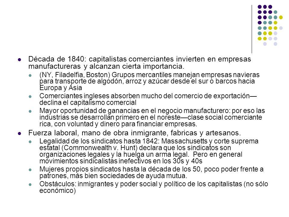 Fuerza laboral, mano de obra inmigrante, fabricas y artesanos.