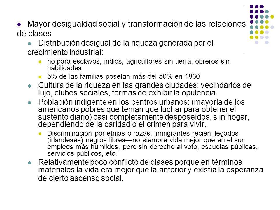 Mayor desigualdad social y transformación de las relaciones de clases