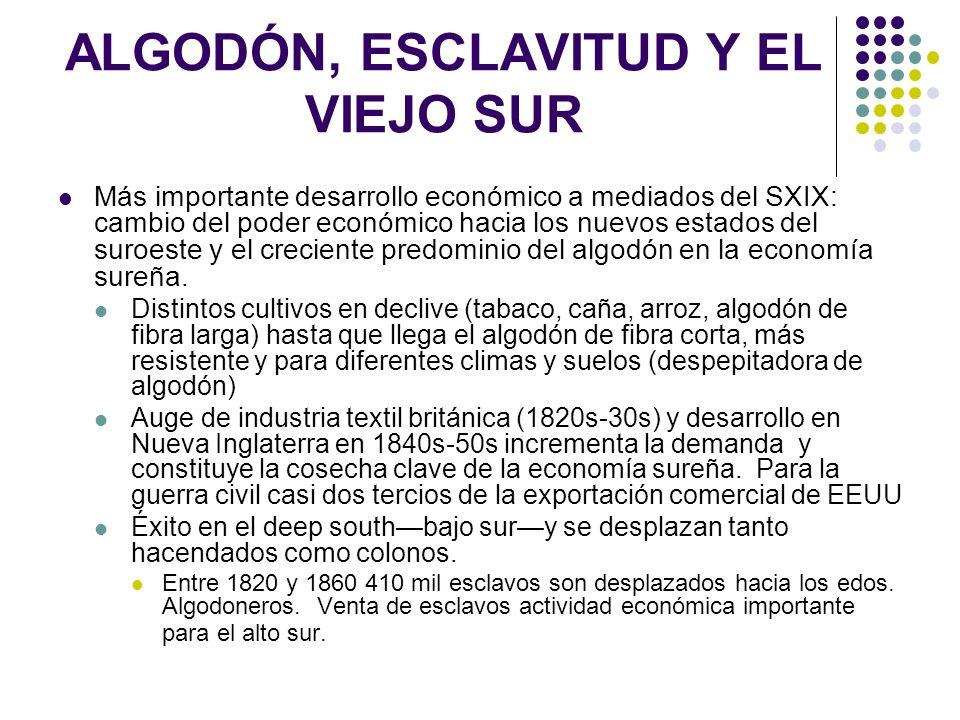 ALGODÓN, ESCLAVITUD Y EL VIEJO SUR
