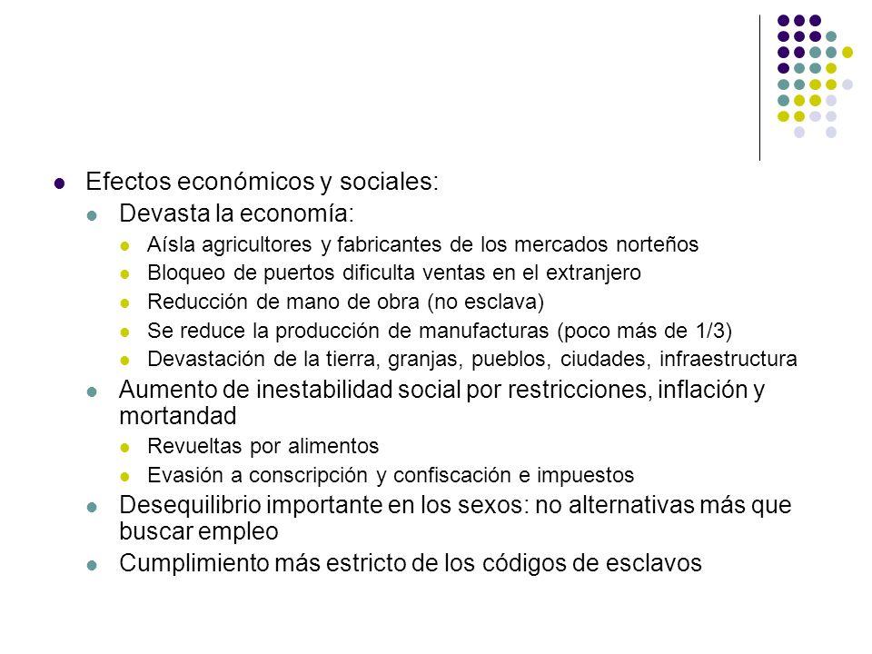 Efectos económicos y sociales: