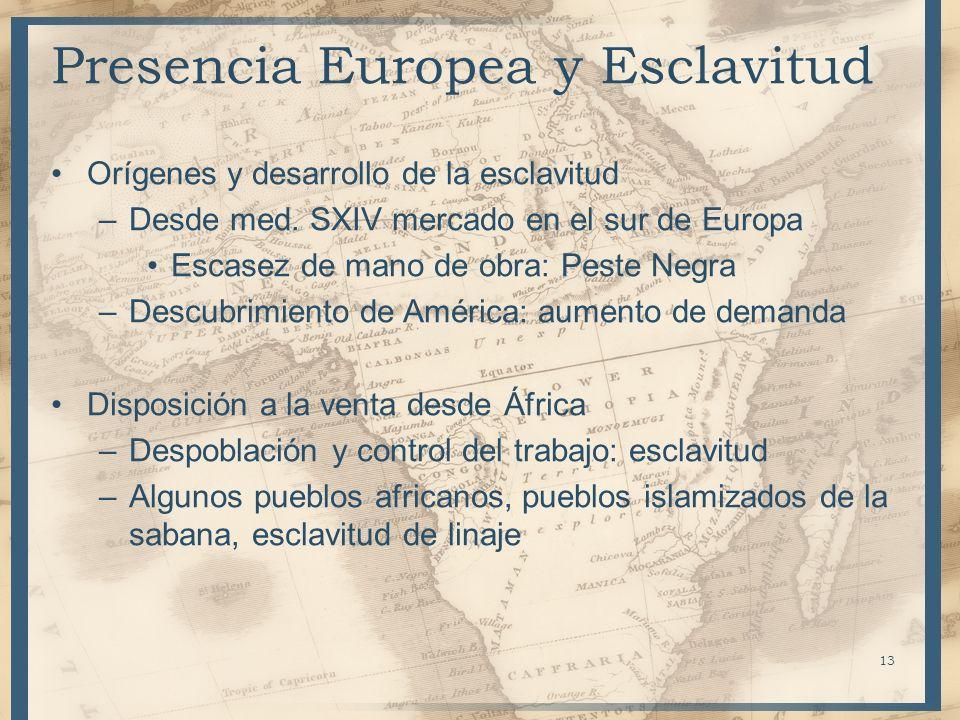 Presencia Europea y Esclavitud