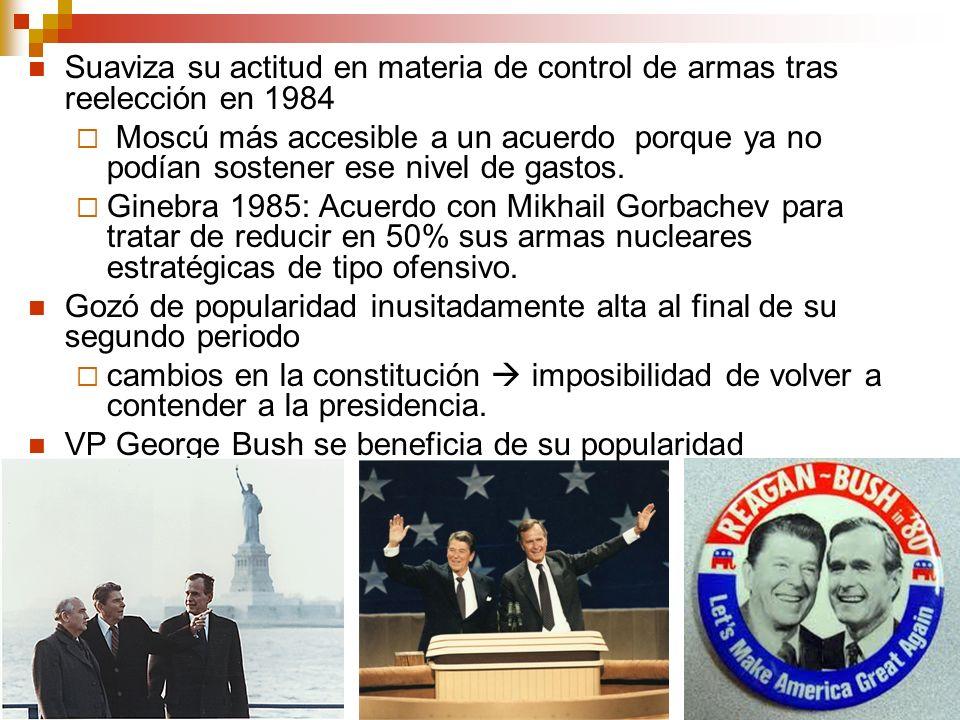 Suaviza su actitud en materia de control de armas tras reelección en 1984