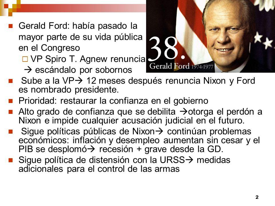 Gerald Ford: había pasado la
