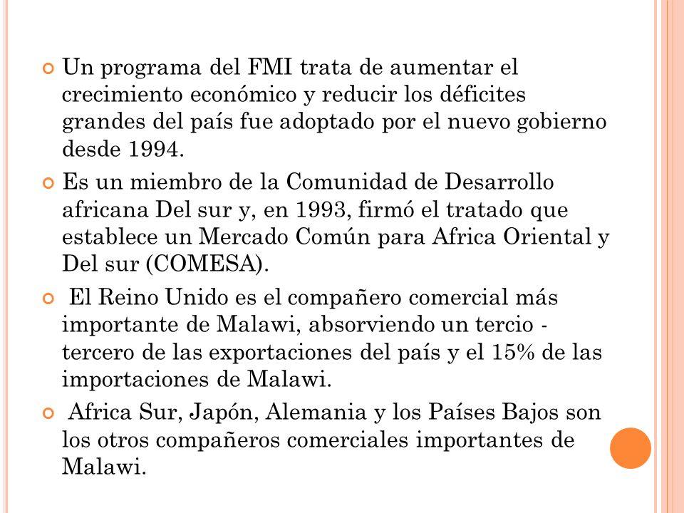 Un programa del FMI trata de aumentar el crecimiento económico y reducir los déficites grandes del país fue adoptado por el nuevo gobierno desde 1994.