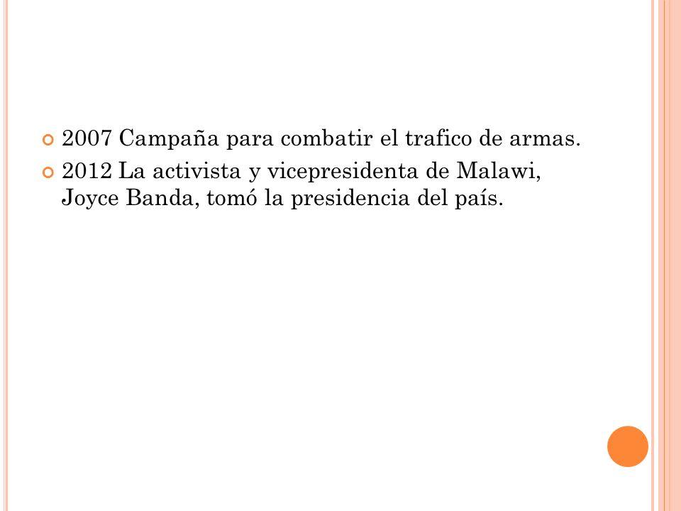 2007 Campaña para combatir el trafico de armas.