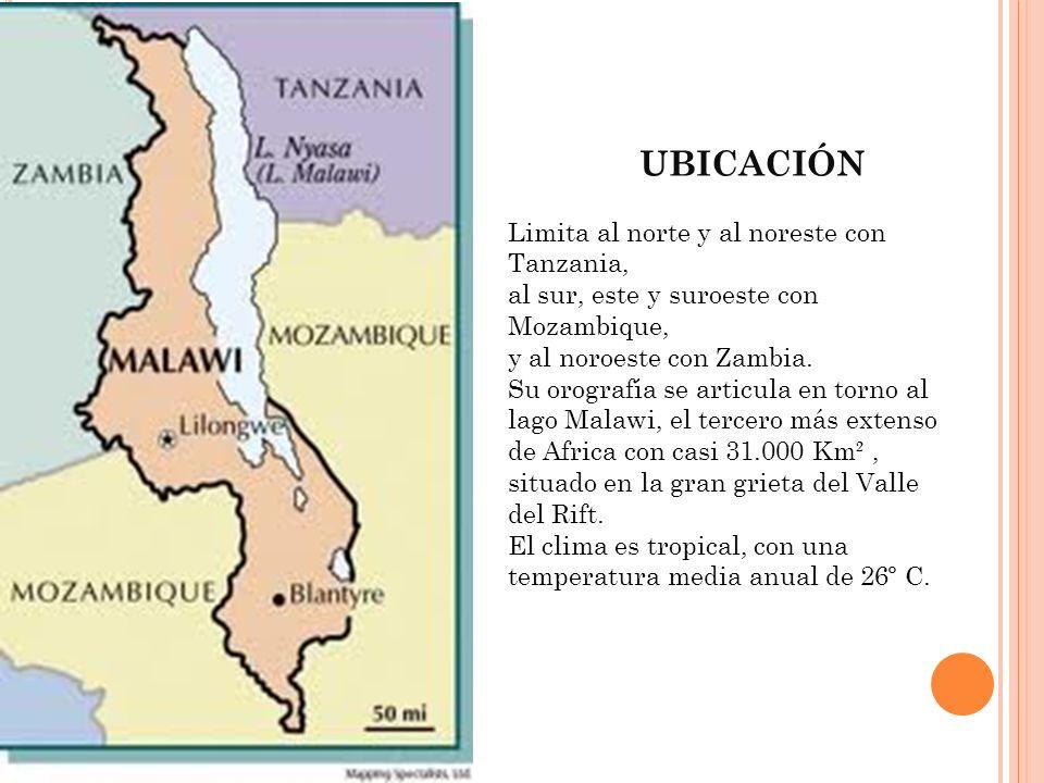 UBICACIÓN Limita al norte y al noreste con Tanzania,