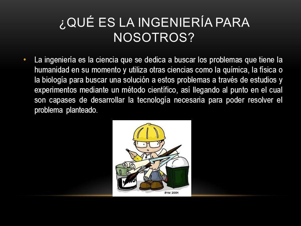 ¿Qué es la ingeniería para nosotros
