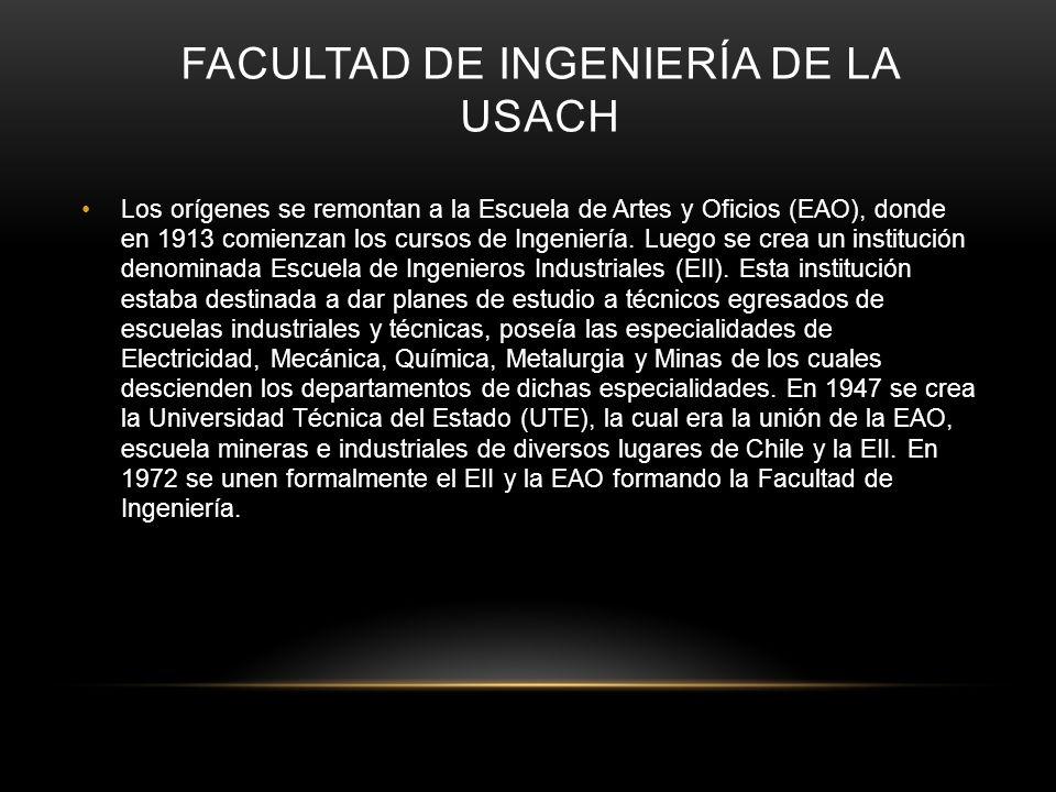 Facultad de ingeniería de la usach
