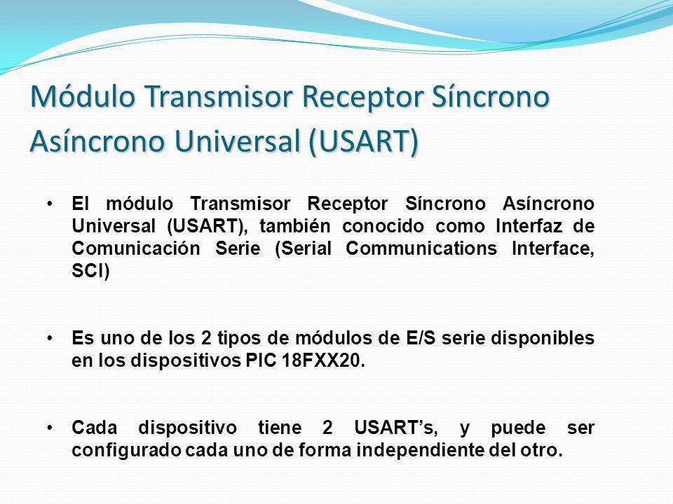 Módulo Transmisor Receptor Síncrono Asíncrono Universal (USART)