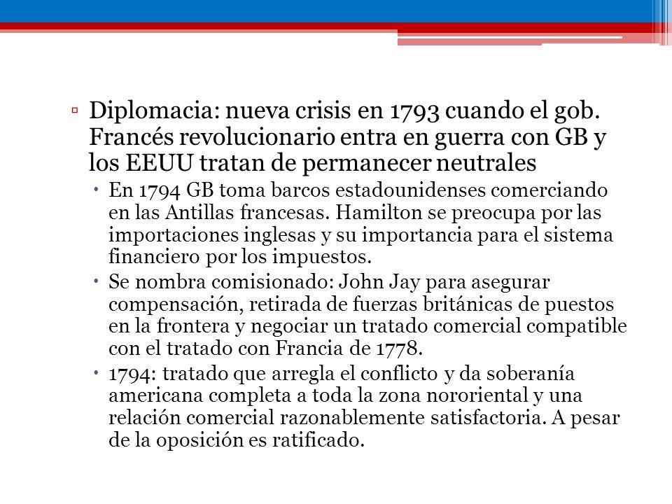Diplomacia: nueva crisis en 1793 cuando el gob