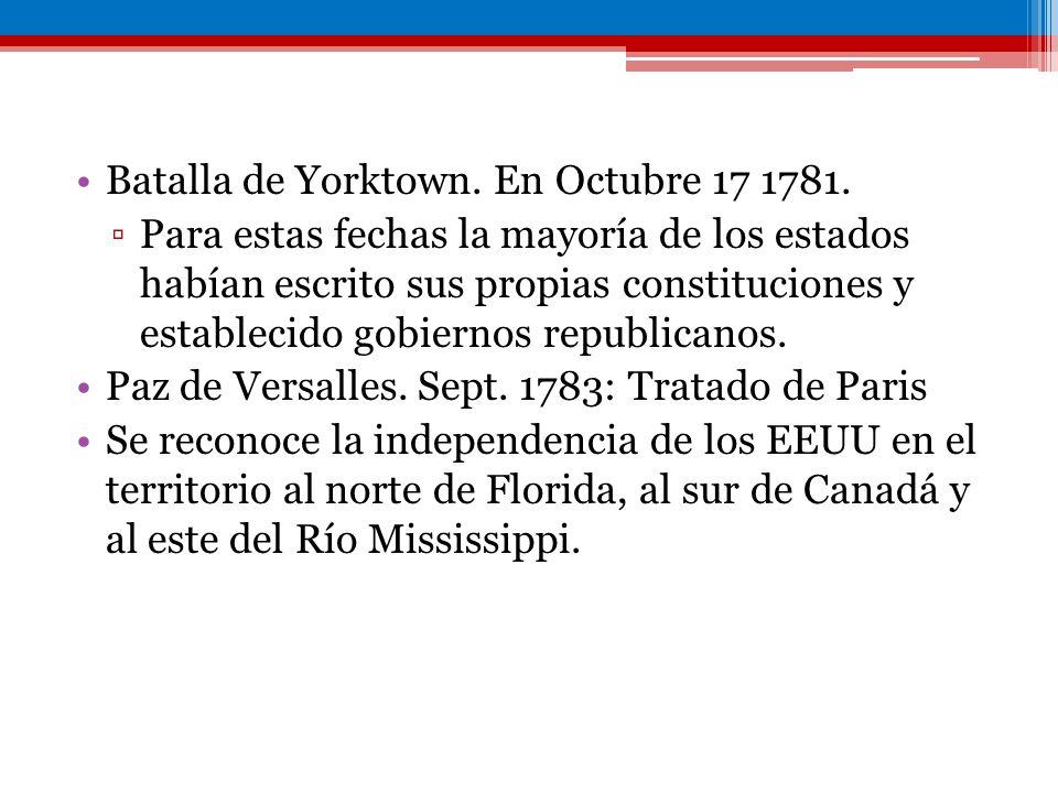 Batalla de Yorktown. En Octubre 17 1781.