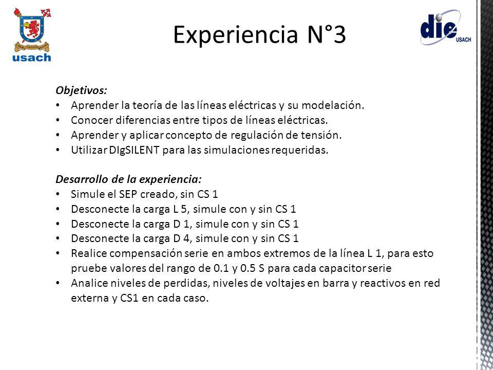 Experiencia N°3 Objetivos:
