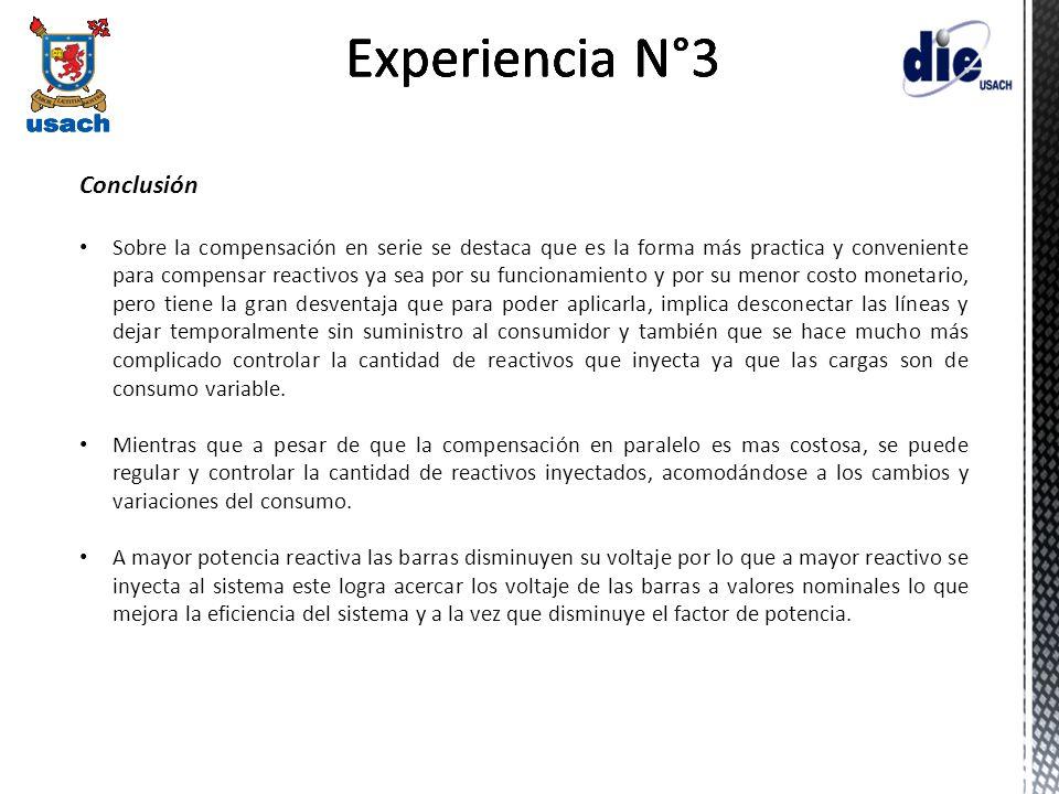 Experiencia N°3 Experiencia N°3 Experiencia N°3 Experiencia N°3