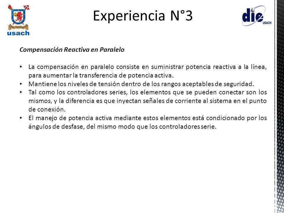 Experiencia N°3 Compensación Reactiva en Paralelo