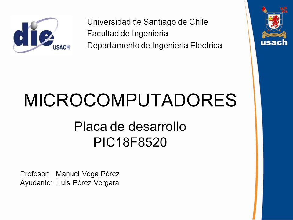 MICROCOMPUTADORES Placa de desarrollo PIC18F8520