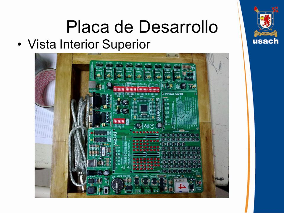 Placa de Desarrollo Vista Interior Superior
