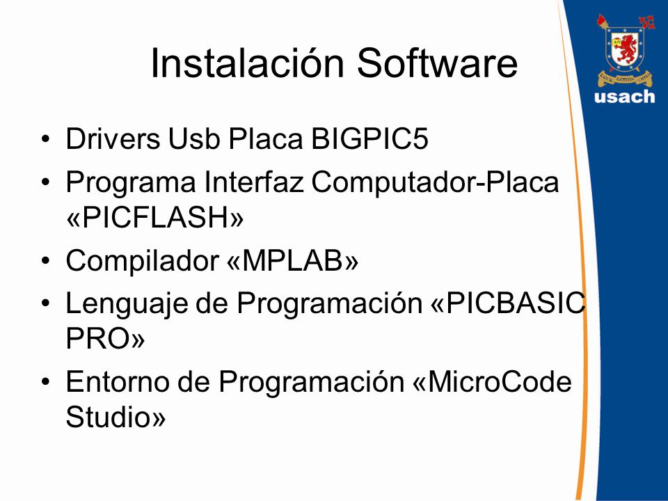 Instalación Software Drivers Usb Placa BIGPIC5