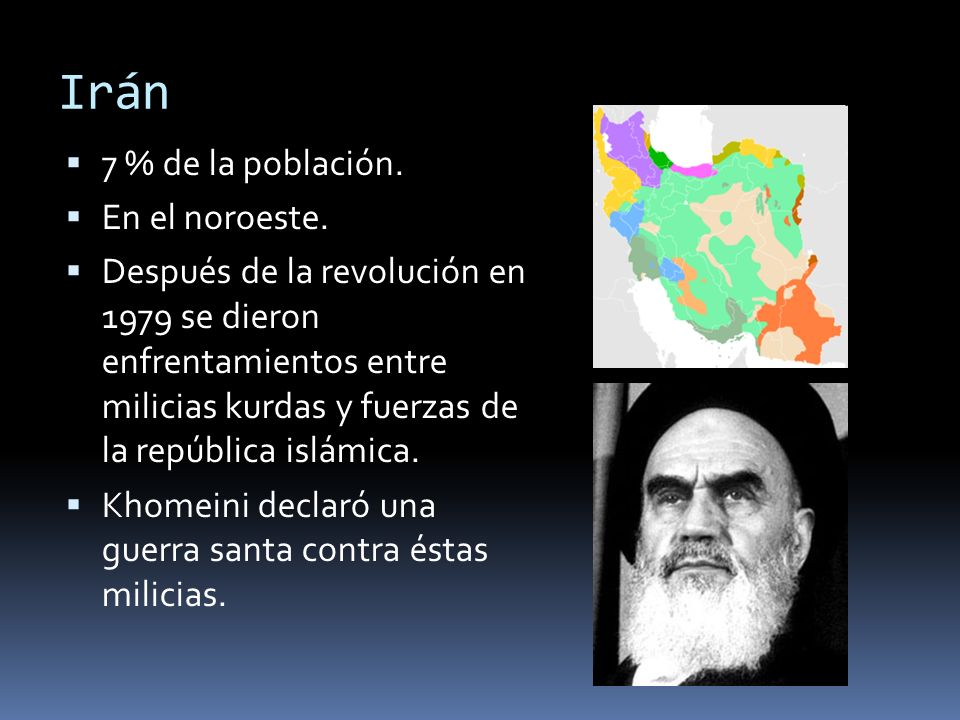 Irán 7 % de la población. En el noroeste.