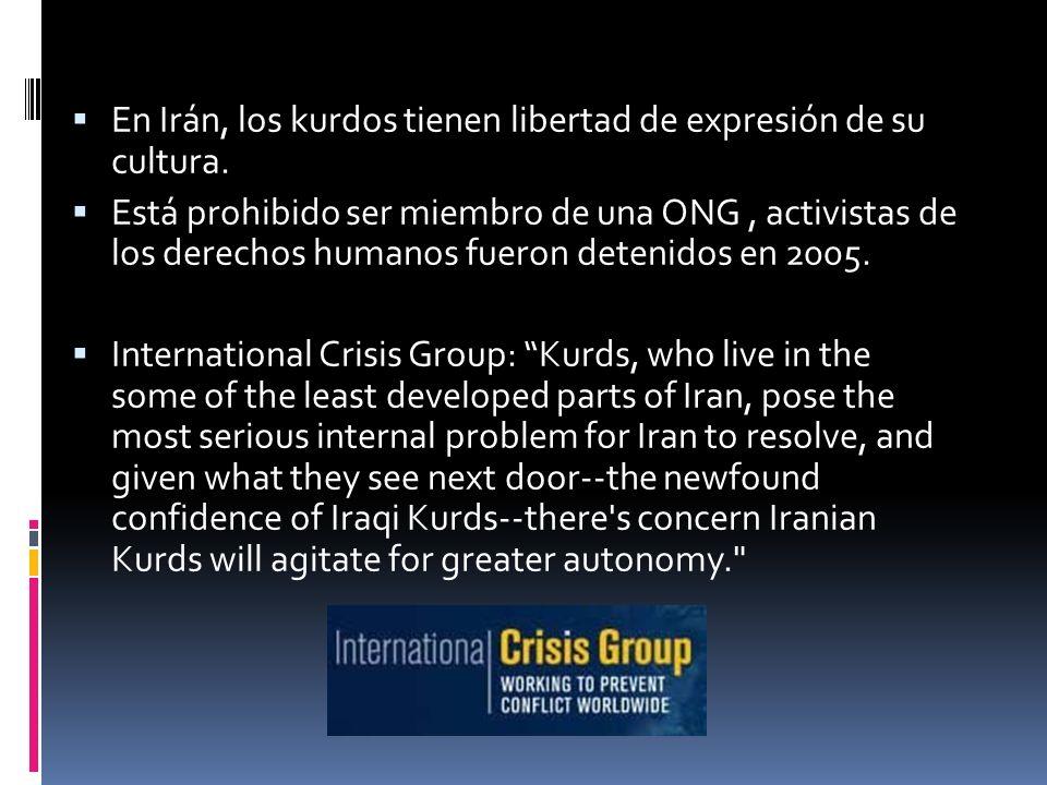 En Irán, los kurdos tienen libertad de expresión de su cultura.