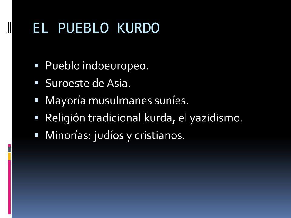 EL PUEBLO KURDO Pueblo indoeuropeo. Suroeste de Asia.