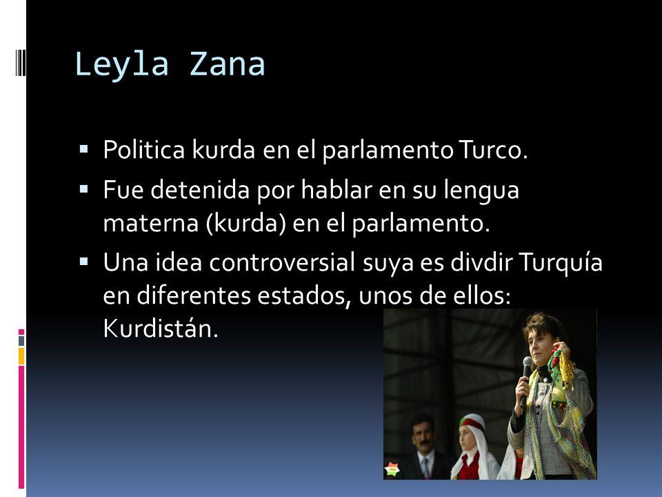 Leyla Zana Politica kurda en el parlamento Turco.