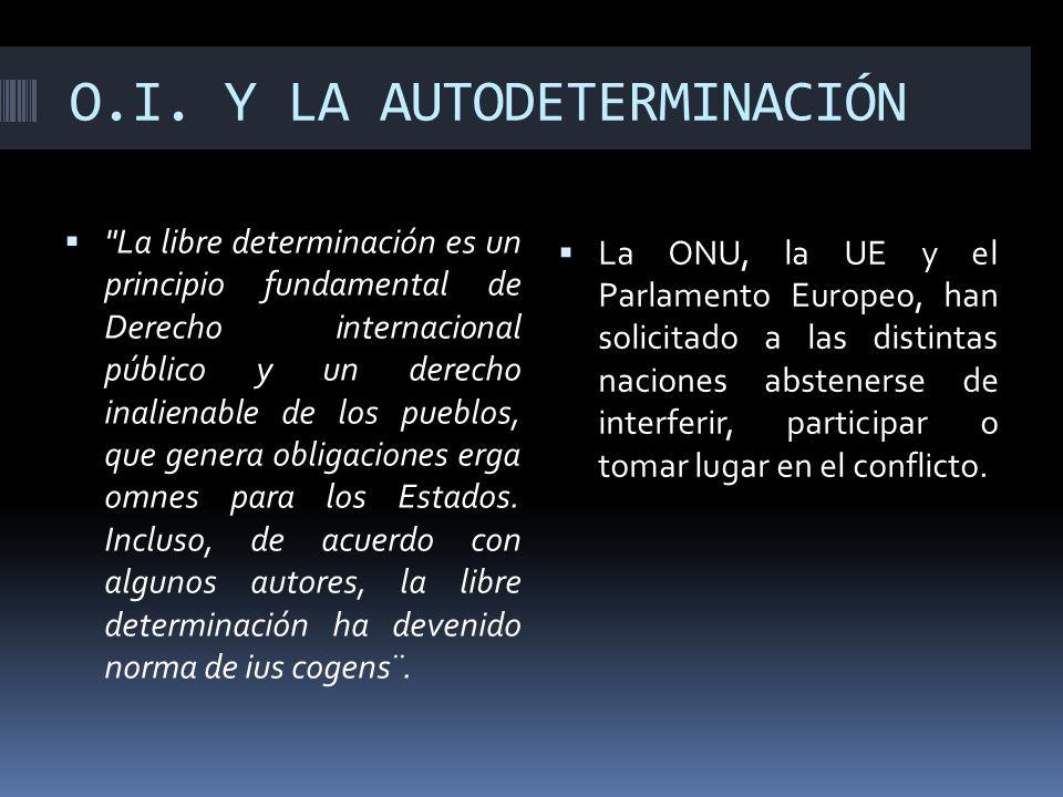 O.I. Y LA AUTODETERMINACIÓN