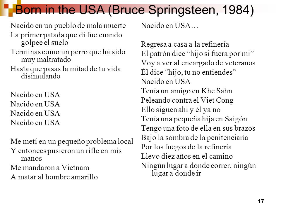 Born in the USA (Bruce Springsteen, 1984)