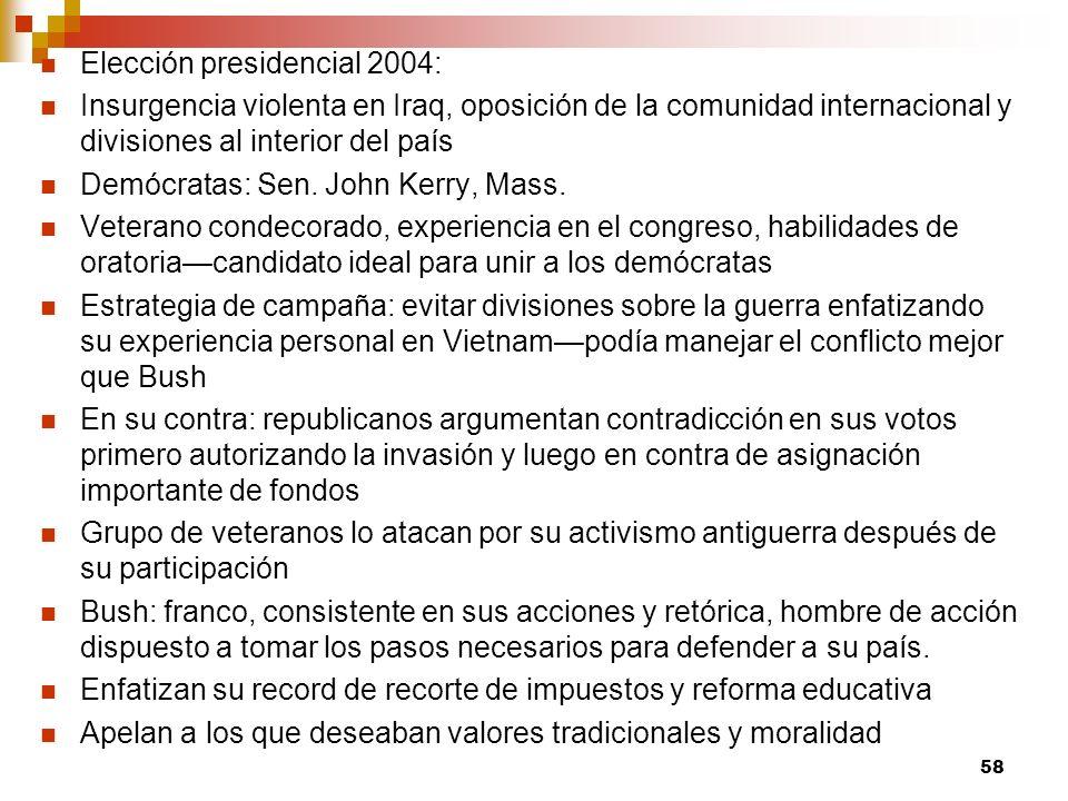 Elección presidencial 2004: