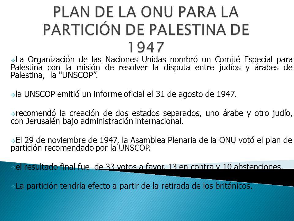 Plan de la ONU para la partición de Palestina de 1947